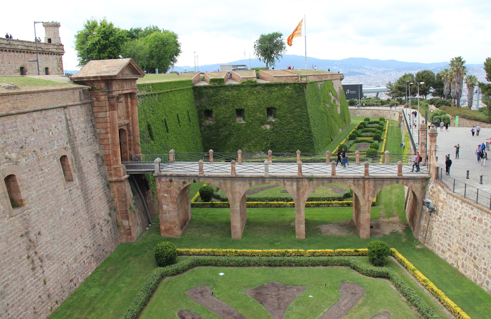 Main entrance to the Castle of Montjuic, Barcelona