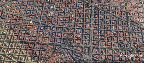 View of Eixample. A district of Barcelona.