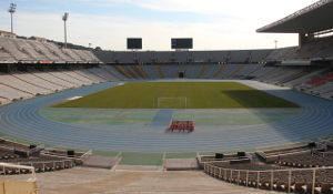 View of the Olympic Stadium of Barcelona in Montjuic Park
