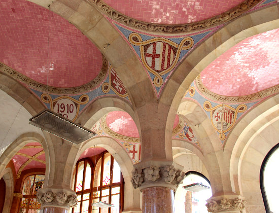 Inside of the old Sant Pau Hospital in Barcelona