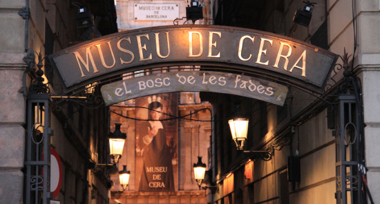 Barcelona Wax Museum, in the district of Ciutat Vella, the old town of Barcelona