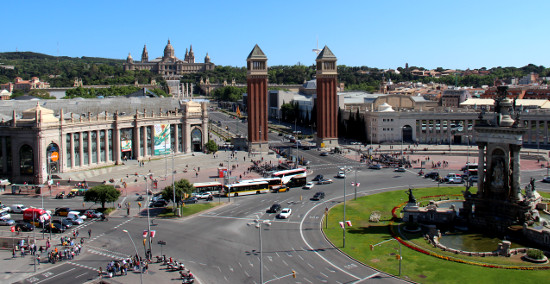 View of the Spain Square in Barcelona